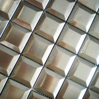 Mosaic tiles stainless steel silver tile backsplash 3d pattern wall tiles kitchen bathroom wall decorative bar hotel mosaic 11SF