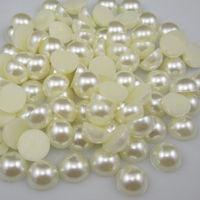 Free Shipping 100pcs 20mm  Half Round Flatback ABS Imitational Pearls Garment Beads Scrapbooking Decoration DIY