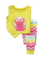 Owl ,Free Shipping,baby boys girls  Pure Cotton long sleeve T-shirt+pant /casual homewear/ 6pcs/lot