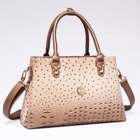2015 new tide bolsas ostrich grain women handbag fashion tote crossbody bag casual women one shoulder bag women messenger bags