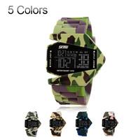 Outdoor Watch Men  Airplane Shaped Fashion LED Sports Digital Back light military Watch Rubber Band  Alarm Calendar kids watch