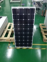4pcs100W mono solar panel free shipping 17% charge efficiency A grade solar cell