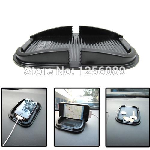 Hot Universal Silicone Rubber Skidproof Phone Holder Car Anti Slip Pad Mat Free Shipping(China (Mainland))