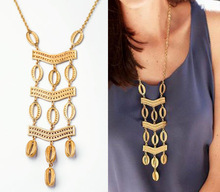 Fashion boho yellow geometric pendant female statement brand retro chain necklace&pendant women party jewelry 2014(China (Mainland))