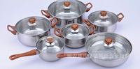 FREE SHIPPING to RUSSIA STAINLESS STEEL 12PCS COOKWARE SET inox cookware set 12pcs kitchenware inox cooker set