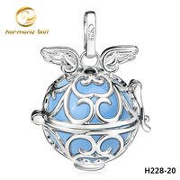 H228-20 New 2014 Mexican Bola Fashion Harmony ball Pendant 20MM Platinum plated Cooper Ringing Chime Pendant for Pregnant women