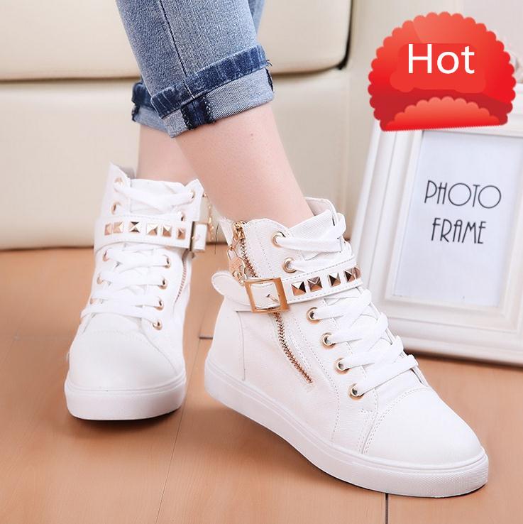 Zipper Slip-On Casual Shoes for Women