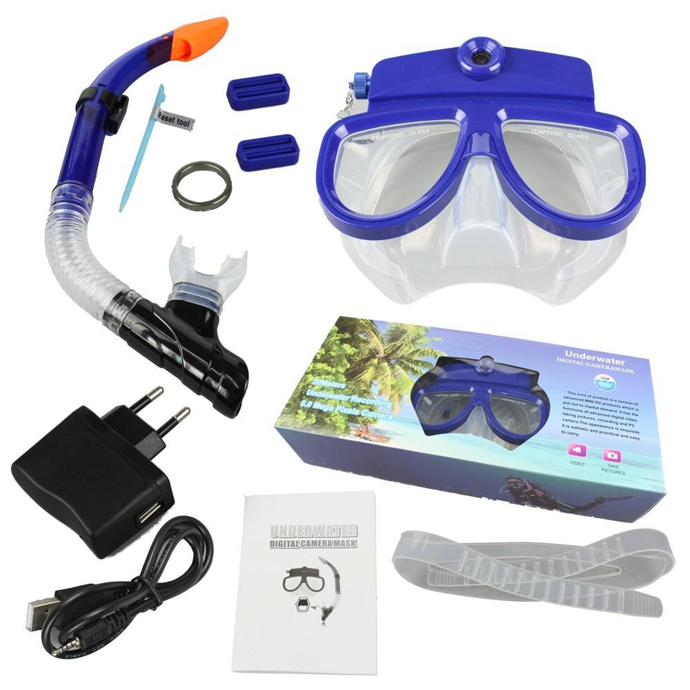 5.0 Mega Pixels HD 720P CMOS Underwater Digital Camera Mask Waterproof Video Diving Mask Camera Underwater 30M Free Shipping(China (Mainland))