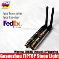 Freeshipping One Pair 2.4Ghz DMX Wireless Transmitter+DMX Wireless Receiver DMX512 stage par light Controller 90V-240V