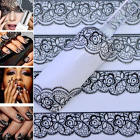 3D Black Lace Design Nail Art Stickers Decals For Nail Tips Decoration Tool NA177