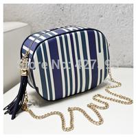 2014 new fashion classic tassel chain women's shoulder bag print small bag messenger cosmetic bags free shippping