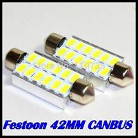 4pcs Festoon Dome 12 SMD led 5630 5730 42mm LED CANBUS Error Free Car License plate Luggage Reading light 12V