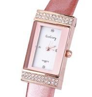 New 2014 Luxury Brand Rhinestone Women Dress Watches,Fashion Luxury Brand Leather Strap Quartz Analog Watch,Womens Wristwatches