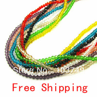 3mm Mixed Color Crystal Rondelle Beads DIY Loose Bead For Bracelet & Necklace Jewelry Making Free Shipping  HB952a