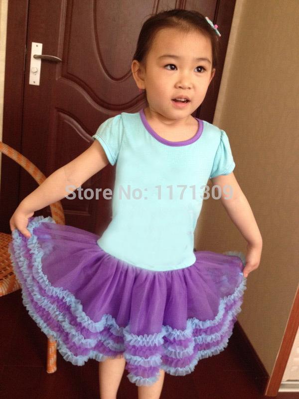New 2014 Hot Summer Short Sleeve Girls Brand Soft Dress Princess TuTu Blue Party Dress For Kids Girl Clothes c01-005(China (Mainland))