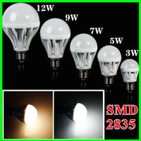 5PCS 3W/5W/7W/9W/12W E27 LED Bulb Lamp AC220V 230V 240V Cool white/Warm white LED Lighting Free shipping