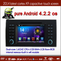 Car Android 4.2.2  DVD GPS Player For E39 X5 E53 5 Series With Cortex A9 1.6GMHZ CPU+1G RAM+RADIO+BT