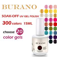 Choose 20pcs BURANO high quality as cnd ibd nail gel nail polish uv  Soak Off Uv nail gel polish 15ml 0.5oz  nail art tools NEW