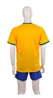Size S-3XL Brazil World Cup Home Brazil Blank Yellow 2014 Soccer Brazil Jersey High Quality Free Shipping
