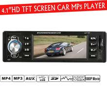 4,1 » дюйма TFT экран HD автомобиль радио-плеер, 4016C, USB SD AUX IN 1080P кино-канал Радио с дистанционным управлением, 1 DIN автомобильных аудио стерео mp5