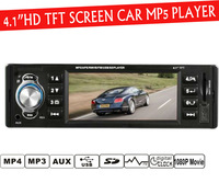 4.1'' inch TFT HD screen car radio player,4016C,USB SD aux in 1080P movie radio with remote control,1 din car audio stereo mp5