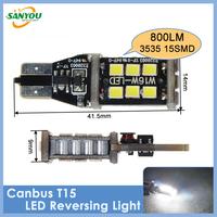 2014 New 1 Pair DC12V 800LM 6000K High Power LED Canbus T15 Bulbs for Back-Up Backup Reversing Lights