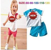 2014 New arrive hot Fashion Children girls boys summer top brand sport suit children clothing set baby clothes 5sets/lot