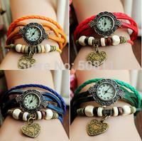 DHL free shipping to USA 60pcs/lot Retro women leather casual watch montres relogio feminino geneva woman quartz wristwatch 2014