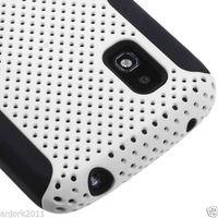 Nexus 4 Case, 2014 New Mobile Phone Case,  Hybrid Mesh Hard/Soft 2-Piece Case For LG Google Nexus 4 E960 + Flim + Touch Stylus