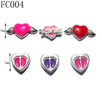 7mm Fashion Alloy Floating Charms,Vogue Enamel Heart Floating Charms,DIY Jewelry Locket Charms Accessory,Free Shipping 50pcs/lot