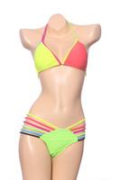 2014 Fashion New Arrive sexy Neon bikini Women Triangl swimwear women bandage swimsuit bikinis Set color 2342