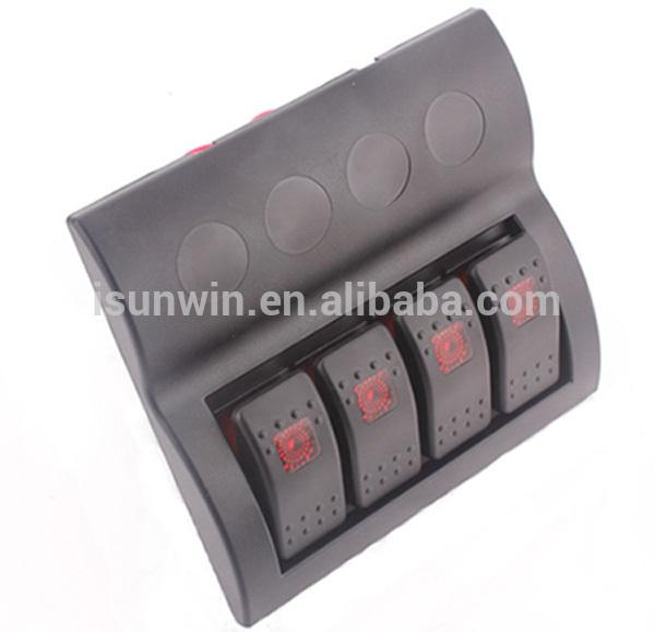 Кулисный переключатель SUNWIN DC12V 4 Auto IP68 PN-AF4