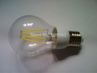 Ultra Bright LED Bulb 4W E27 85-265V led lamp with 4 pcs LED filament 440LM 360 degree e27 led bulb Fee Shipping