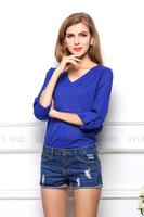Fashion Women Chiffon Blouses Rivet Epaulette V-neck Long-sleeve Loose Plus Size Shirts Top For Women High Quality !1364