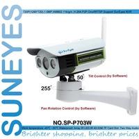 SunEyes  SP-P703W Wifi Wireless Outdoor IP Camera Pan Tilt Rotation ONVIF 720P HD with TF/Micro SD Slot Two Way Audio Array IR