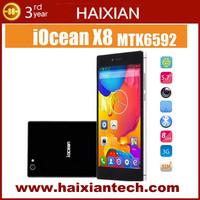 Original Iocean X8 MTK6592 Octa Core Mobile phone 5.7'' IPS Gorilla Glass 1080p 2GB RAM 32GB ROM Android 4.2 OS Dual Sim WCDMA