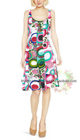 NEW 2014 fashion Desigual Summer Women's dress High quality Casual women dress Colorful Printed Women dress