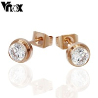 New earrings  fashion  women earrings with rose gold color stud earrings for women and girls jewelry