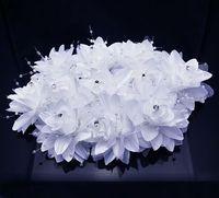 2014 Headband Frozen Hair Clip Beautiful Flowers with Pearl Lace Wedding Bridal Bridesmaid Water Drill Headdress Flower Head