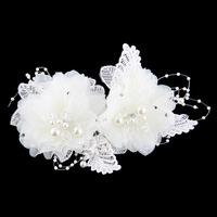 adult rushed headband hair band bridal chiffon fabric female portrait photographs diamond tassel flower tiaras floral cotton