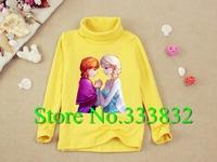 Wholesale discount 2014 Frozen princess elsa frozen costume kids clothing girl t shirt summer cartoon t shirt 100 cotton 2-12Age