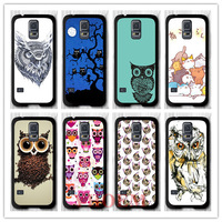 YHOEM  Tribal Owl Protective Black Hard Cover Case For Samsung Galaxy S5 i9600