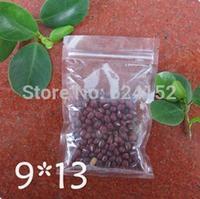 9x13cm zipper bags food packing Zip Lock Packing Bags Transparent PET /PE laminated Resealable Bags Thickness 0.15mm 100pcs/lot