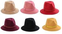 2014 NEW Fashion Women Wool Felt Trilby Hats Womens Winter Fedora Caps Lady Spring Fedora Cap Ladies Autumn Wide Brim Felt Hat