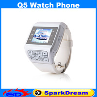 Q5 Watch Phone With Quad Band Single SIM Card Bluetooth FM 1.3 Inch Touch Screen Watch Phone