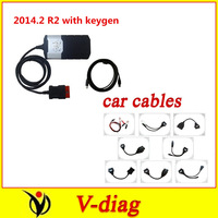DHL 2014.2 keygen on cd new vci without bluetooth with 8 full set car cable cdp ds150 SCANNER TCS pro plus DS150E