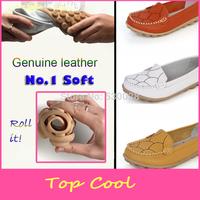 LA86 love mother soft shoes flat heel genuine leather  women casual single nurse shoes ladies work shoes flats for plus size