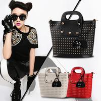 2014 new fashion pu leather handbag women shoulder crossbody bag rivet tote bag women messenger bag clutch women bagWFCSB01463