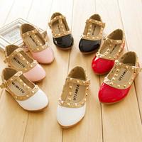 Girls Princess Summer Rivet Flats Sandals New 2014 Casual Children Round Toe Ballet Ballerina Designer Kids Dance Shoes DGKP103