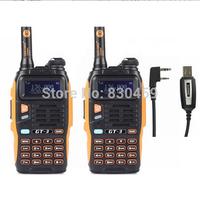 2pc x  ham radio transceiver BaoFeng GT-3 Mark II, walk talk radio set 136-174/400-520MHz, + pofung usb Programming Cable